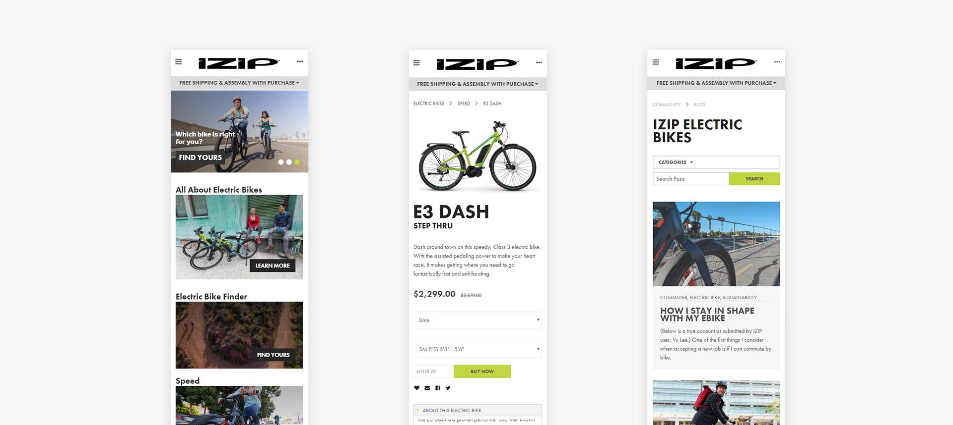 IZIP Electric Bikes Mobile