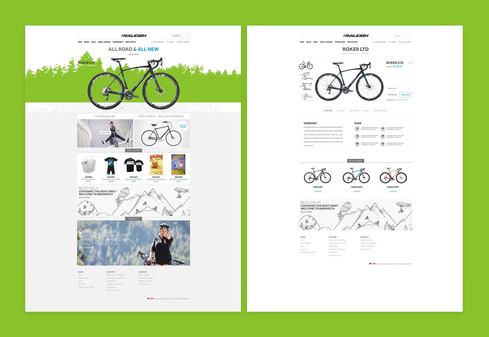 Raleigh Bikes e-Comm Screen 01